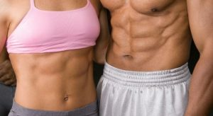 Image result for male and female abs